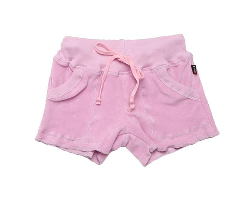 PASTEL LAVENDER TERRY CLOTH COTTON SWEAT SHORT WITH POCKET