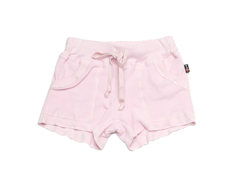 BALLERINA TERRY CLOTH COTTON SWEAT SHORT WITH POCKET