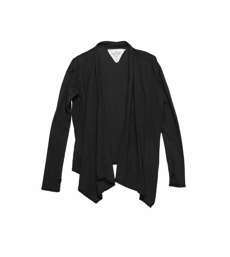 BLACK LONG SLEEVE  WRAP WITH THUMBHOLES