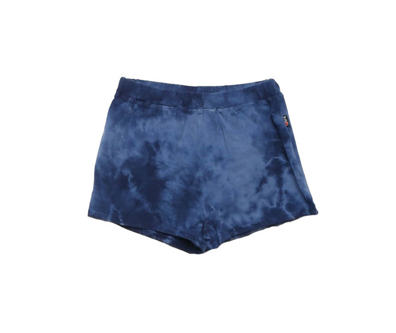 NAVY CLOUD TIE DYE JERSEY RAYON SPANDEX  EASY SHORTS