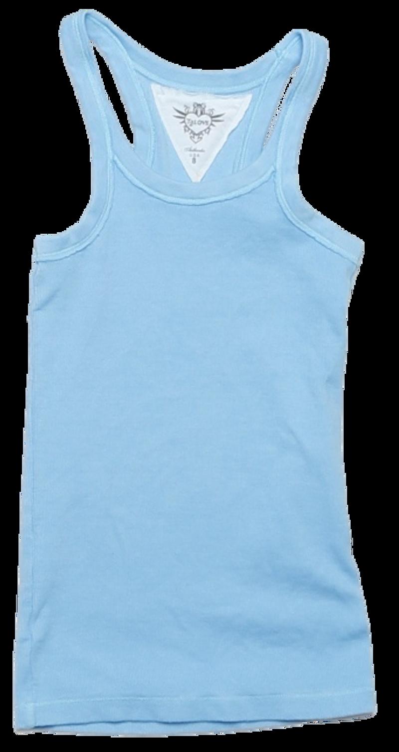 AIRY BLUE 2X1 RIB MODAL LYCRA TANK TOP