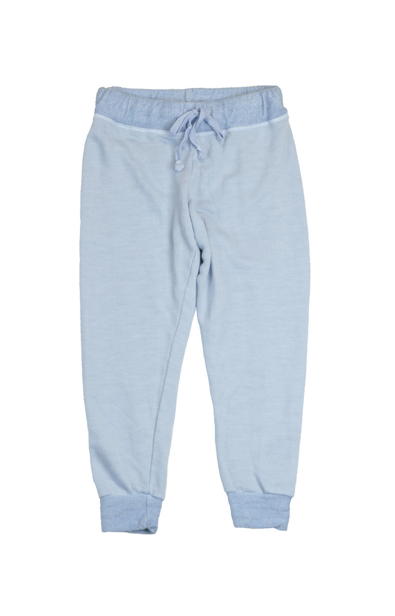 SKY CUFFED HEATHER FRENCH TERRY RAYON SWEAT PANTS WITH BACK POCKET