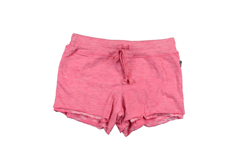 PINK JERSEY COTTON DOUBLE LAYER RAW SHORT
