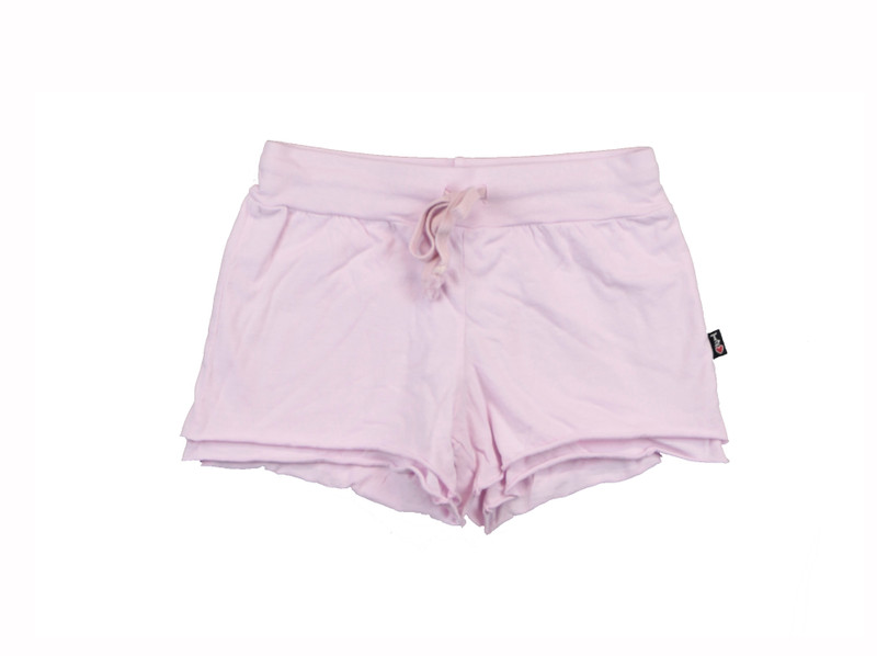 POWDER PINK JERSEY COTTON DOUBLE LAYER RAW SHORT