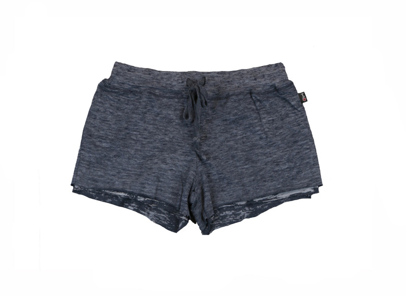 NAVY BURNOUT DOUBLE LAYER RAW SHORT