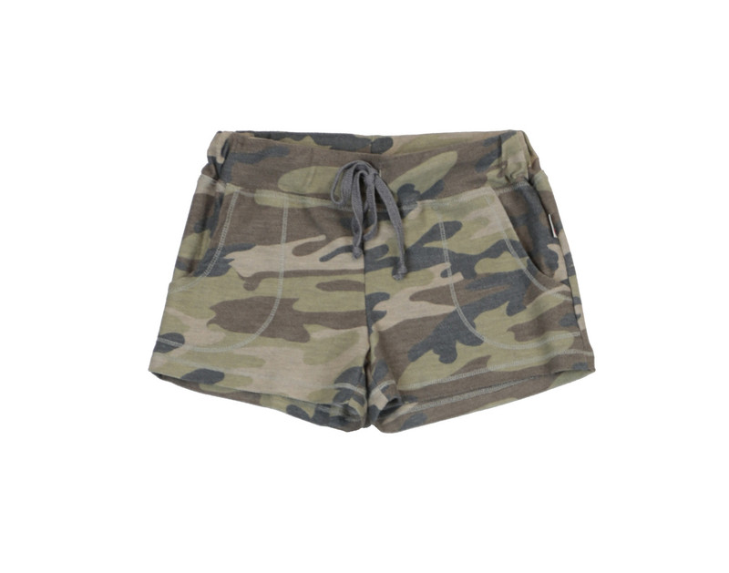 CAMO PRINT ROLL BOTTOM POCKET SHORT