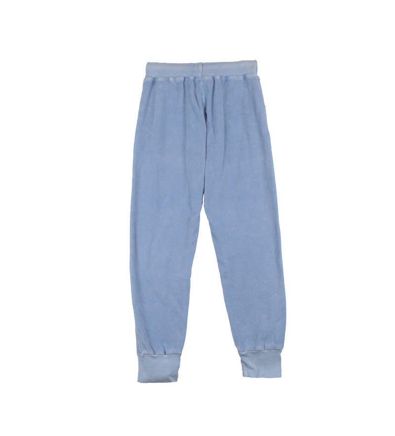 SKY VINTAGE WASHED POCKET SWEAT PANTS WITH CUFF BACKVIEW
