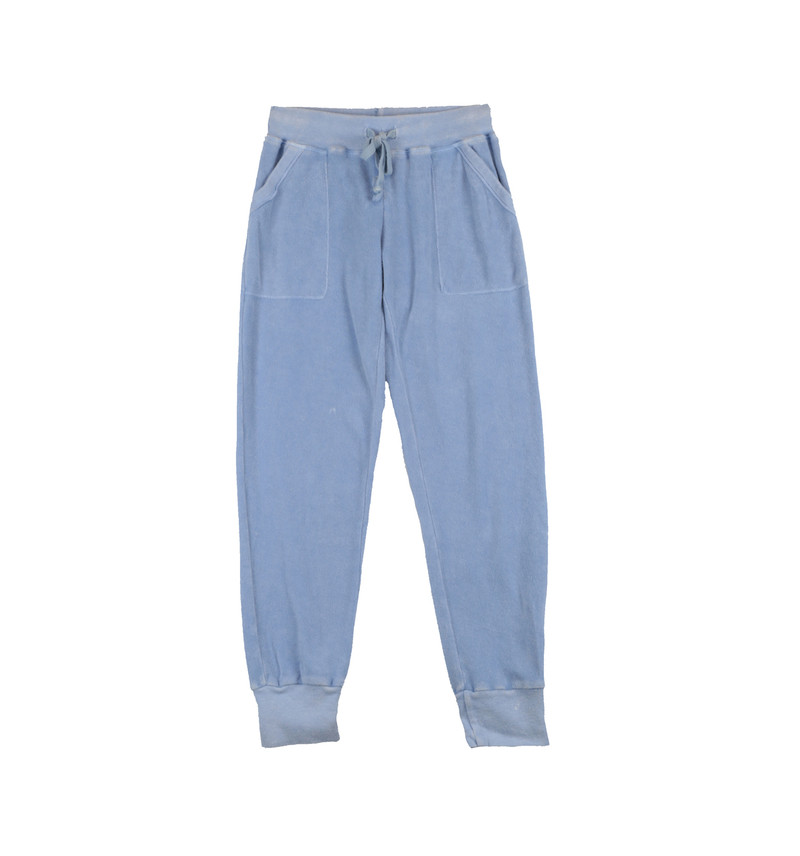 SKY VINTAGE WASHED POCKET SWEAT PANTS WITH CUFF