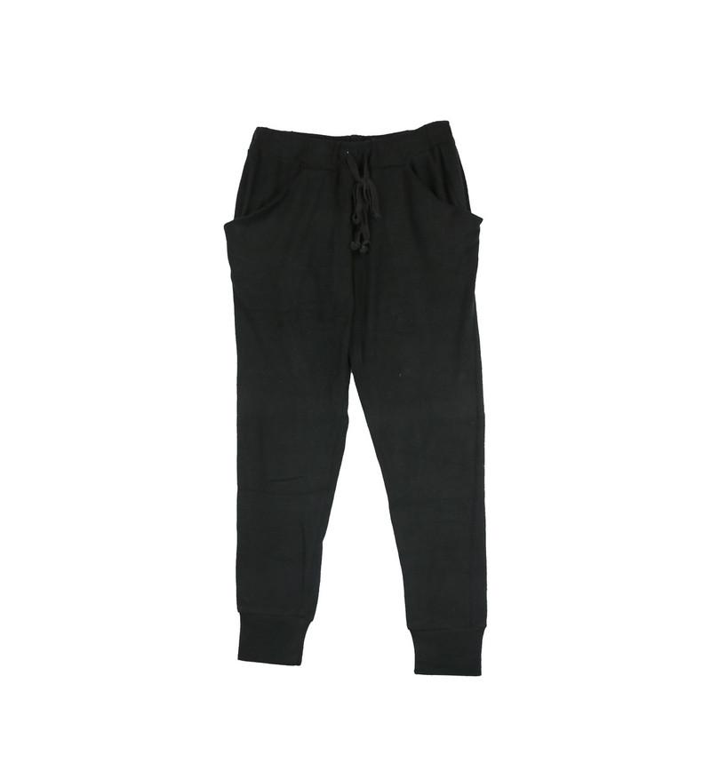 BLACK BRUSH HACCI SLOUCHING PANTS