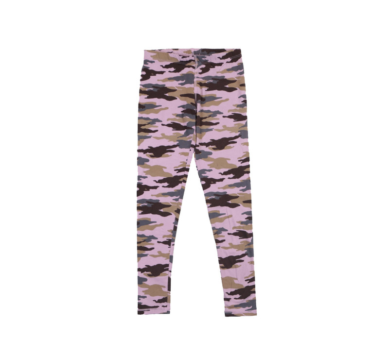 MAUVE CAMO PRINT FULL LENGTH LEGGING
