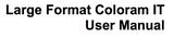 Large Format Coloram IT user's manual.