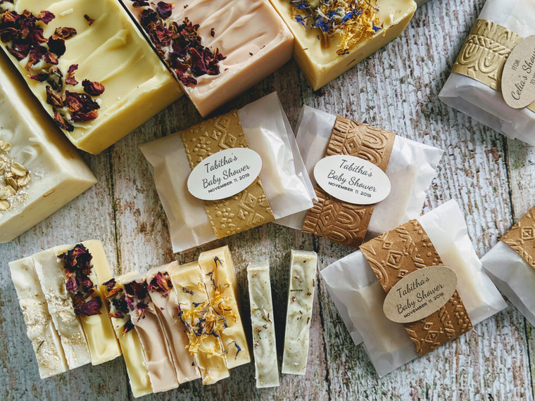 Personalized Soaps Favors, Rustic Wedding Soaps, Bulk Soaps, Mini Soaps, Guest Soaps, Wedding Favors, Wedding Soap Favors, Baby Shower Soaps, Wedding Soaps by Olive and Dewdrop Soap Co.