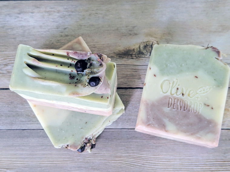 Eucalyptus Woods Natural Soap Bar - Olive and Dewdrop Soap Co.  - Vegan Soap - Natural Soap - Palm Oil Free Soap - Essential Oil Soap