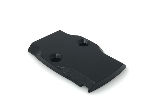 Black Anodized Aluminum Trijicon RMR Cover Plate - Maple Leaf Compatible - Glock Only