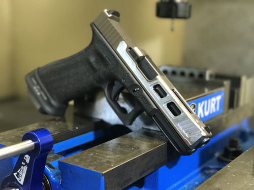 Glock 17 Agency Cut with Top Chamfer and Front Bull Nose Chamfer