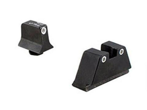 Trijicon Tritium Suppressor Night Sights (White Outline / Green Tritium) - (GL201-C-600649)
