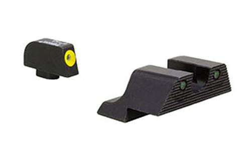 Trijicon HD XR Night Sights (Yellow Front)  - Standard Glock (ie 19/17/26)