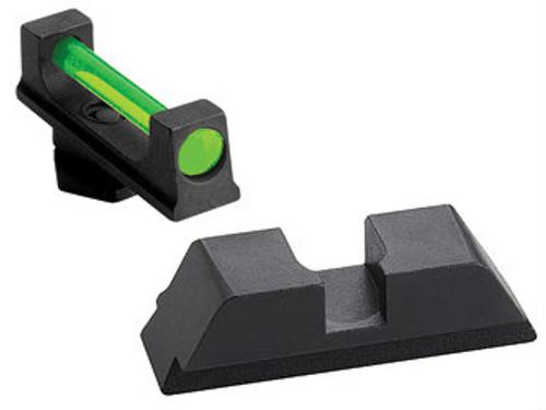 AmeriGlo Fiber Optic Sights (Green Fiber Optic Front/Black Rear)