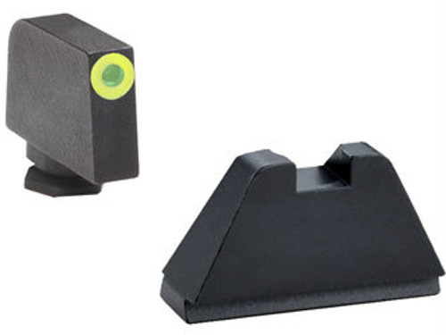 AmeriGlo Suppressor Height Sights (Green Outline Tritium Front/Black Rear) - GL-611