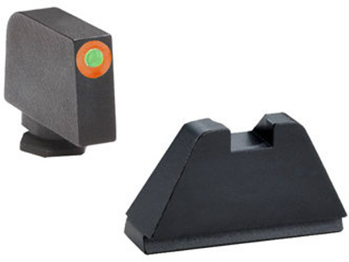 AmeriGlo Suppressor Height Sights (Orange Outline Tritium Front/Black Rear) - GL-511