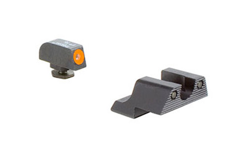 Trijicon HD Night Sights (Orange Front) - Standard Glock (ie 19/17/26) - (GL101O)