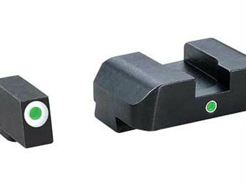 AmeriGlo I-Dot Tritium Sights (White Outline Green Tritium)