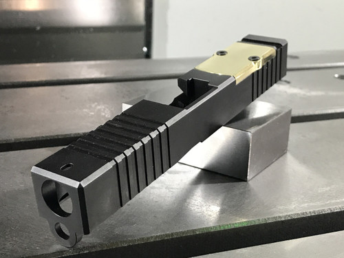 Brass RMR Cover Plate - Brushed Finish - BROWNELLS COMPATIBLE ONLY
