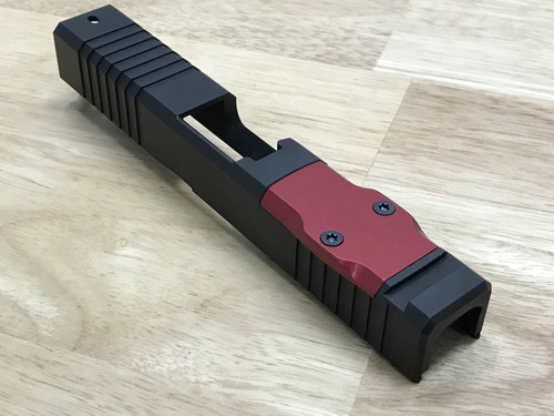 Aluminum RMR Cover Plate (RED Anodized) - BROWNELLS COMPATIBLE ONLY