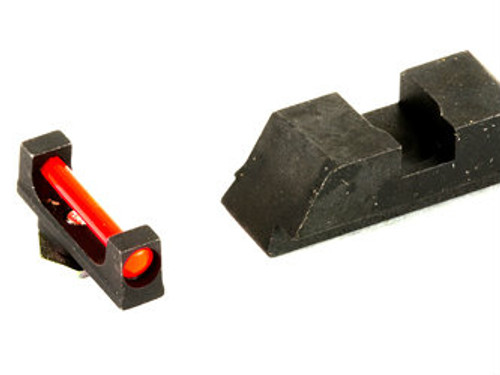 AmeriGlo Fiber Optic Sights (Red Fiber Optic Front/Black Rear)