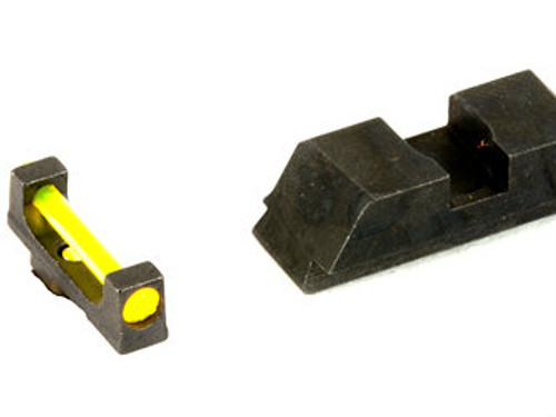 AmeriGlo Fiber Optic Sights (Amber Fiber Optic Front/Black Rear)