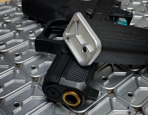 Glock Enhanced Magazine Plate (+0) - Black Anodized Aluminum