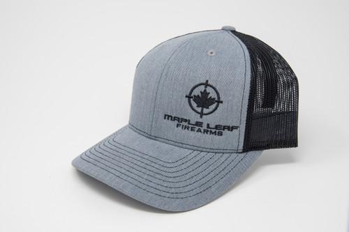 Maple Leaf Hat - Embroided Logo (Heather Grey/Black)