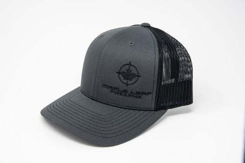 Maple Leaf Hat - Embroided Logo (Charcoal Grey/Black)