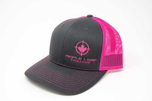 Maple Leaf Hat - Embroided Logo (Pink)
