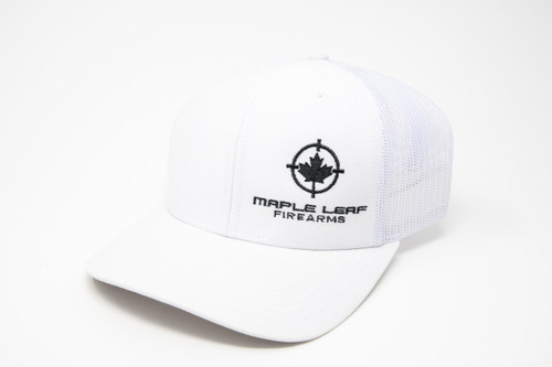 Maple Leaf Hat - Embroided Logo (White)