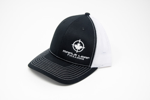 Maple Leaf Hat - Embroided Logo (Black/White)