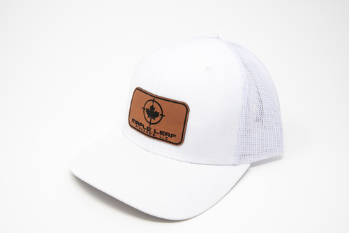 Maple Leaf Hat - Leather Patch (White)