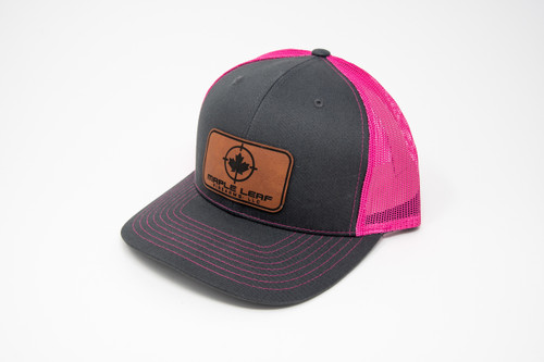 Maple Leaf Hat - Leather Patch (Pink)