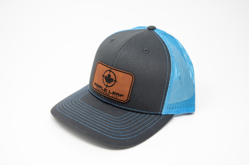 Maple Leaf Hat - Leather Patch (Blue)