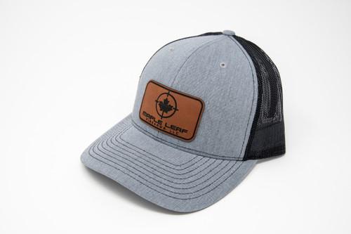 Maple Leaf Hat - Leather Patch (Heather Grey/Black)