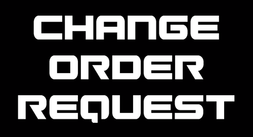 CHANGE ORDER REQUEST