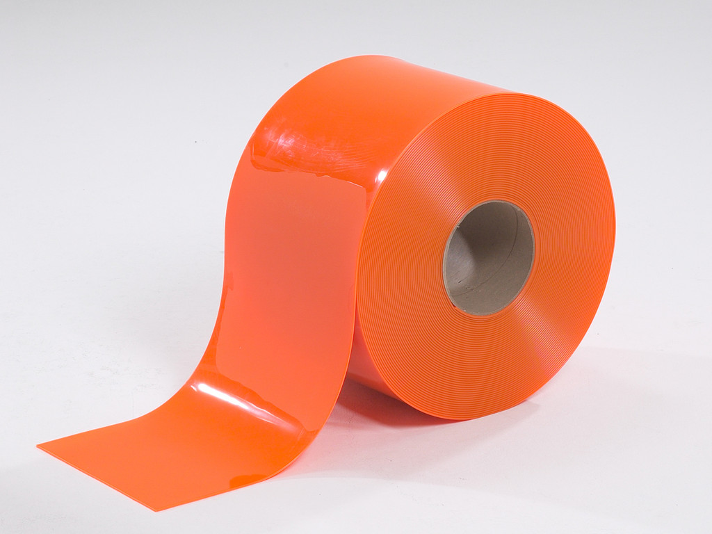 Orange Safety PVC Strip Rolls