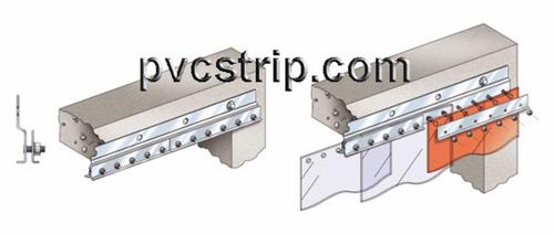 Strip door hardware