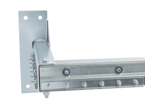 Stand-off Strip Door hardware extends the strip door out from the opening while maintaining side coverage.