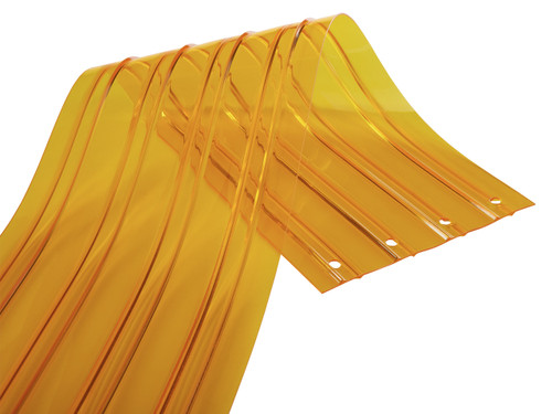 Insect Yellow in ribbed strip style.