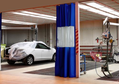 Auto Body Shop Curtains