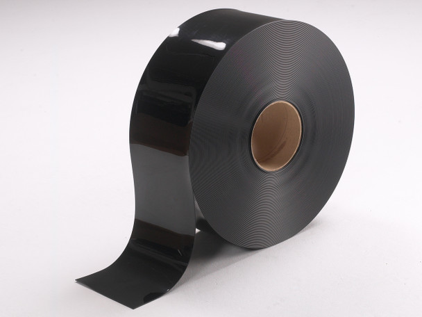 Black Smooth PVC Strip Rolls