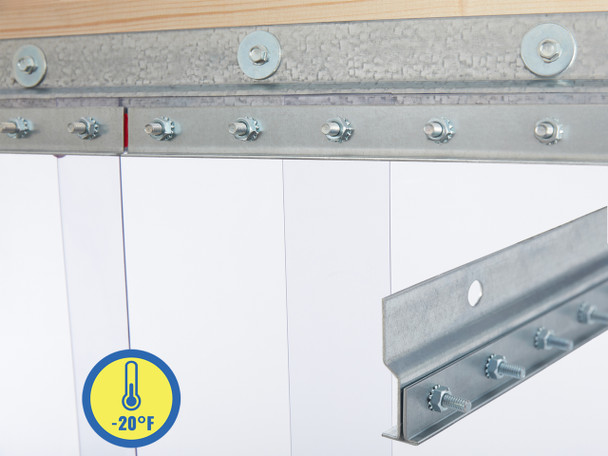 Low Temp Wall Mount Strip Door Kit