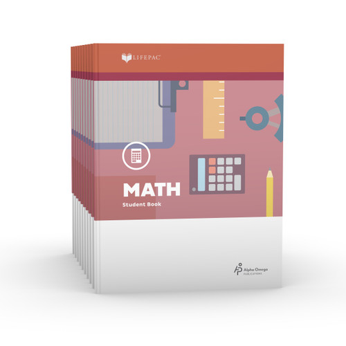 LIFEPAC 3rd Grade Math 10-Unit Student Set ONLY