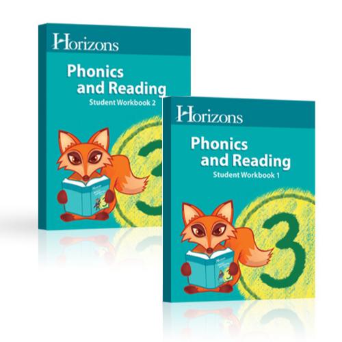 HORIZONS 3rd Grade Phonics Student Books 1 & 2 Set